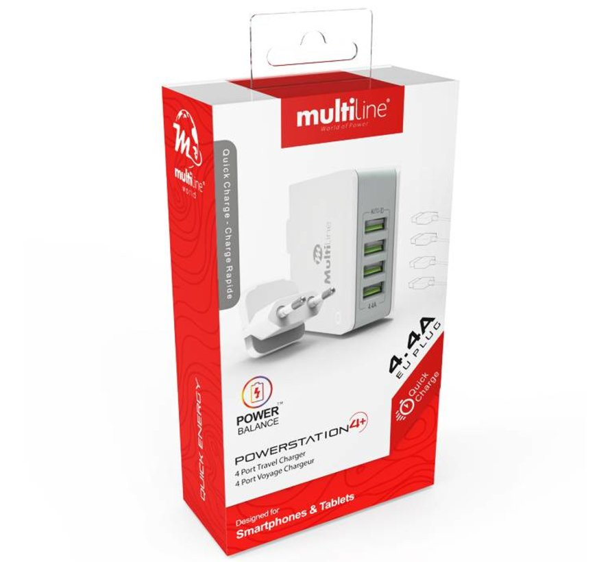 4-Poorts USB Powerstation 4.4A