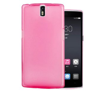 OPPRO Silicone Hoesje Roze OnePlus One