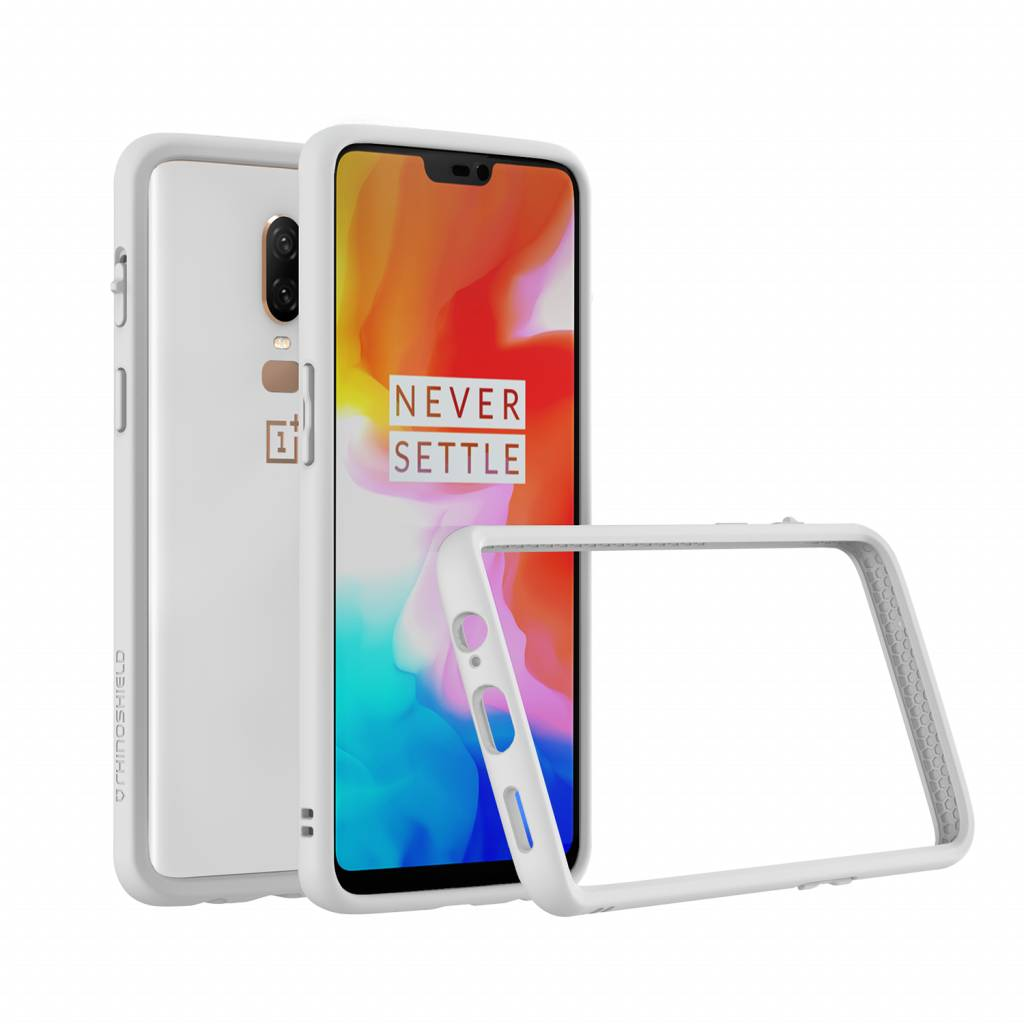 outlet store 984ed 08c27 RhinoShield CrashGuard Bumper Case White OnePlus 6