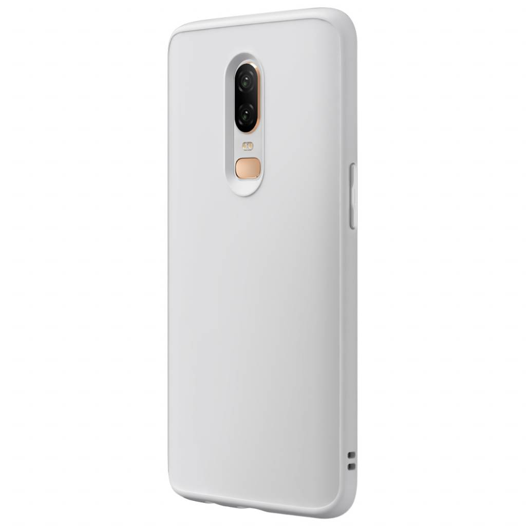 timeless design a61cf b29a1 RhinoShield SolidSuit Case White OnePlus 6