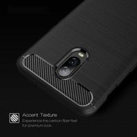 OnePlus 6T Cover Brushed Carbon Blue