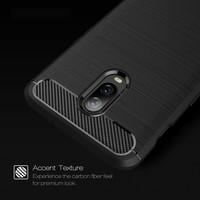 OnePlus 6T Hoesje Brushed Carbon Grijs