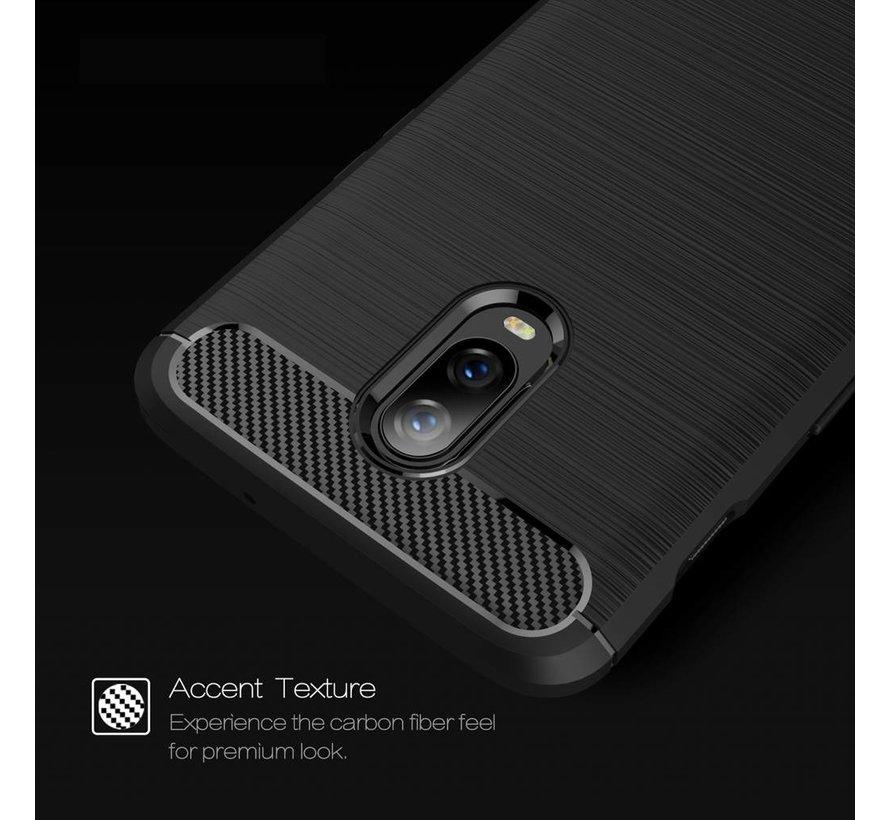 OnePlus 6T Gehäuse in gebürstetem Carbongrau
