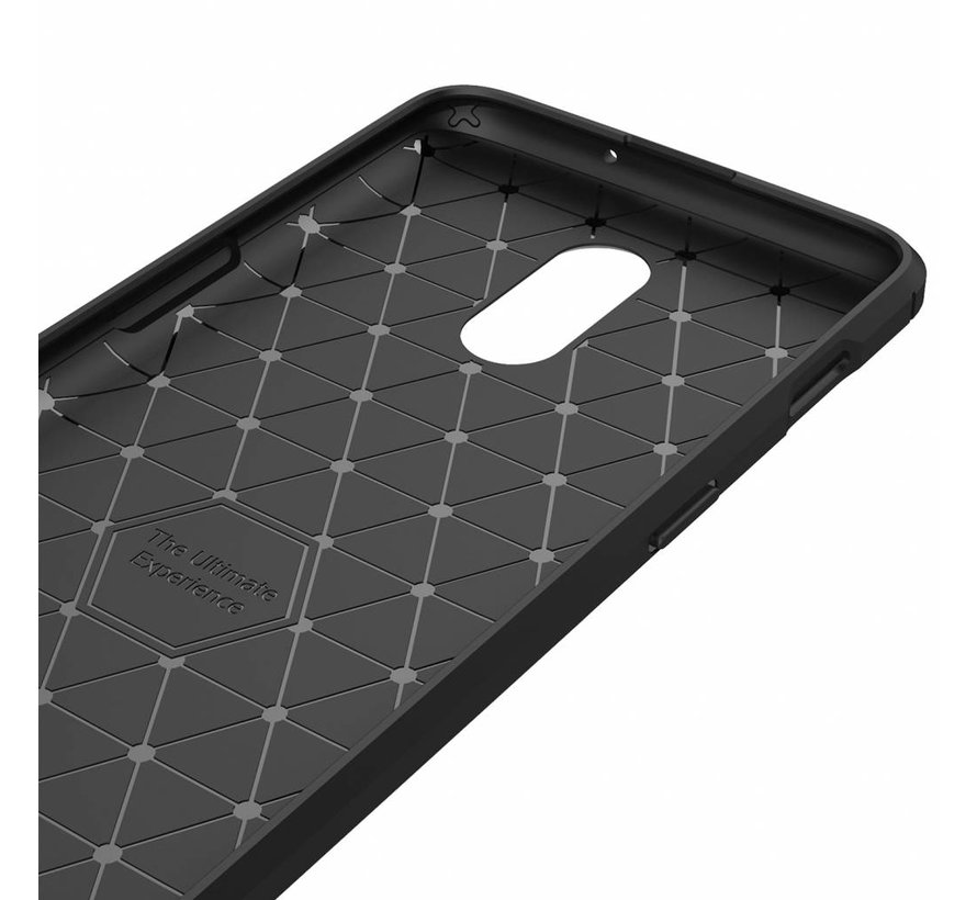 OnePlus 6T Hoesje Brushed Carbon Grijs