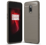 OPPRO OnePlus 6T Case Brushed Carbon Gray