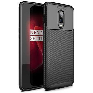 OPPRO OnePlus 6T Case Carbon Structure Black