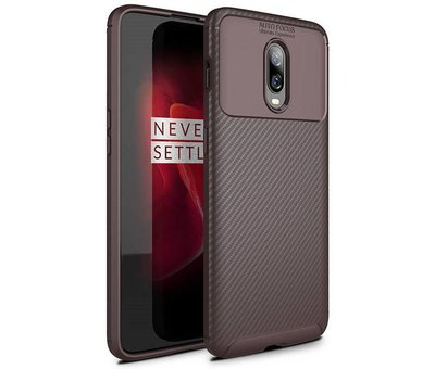 OPPRO OnePlus 6T Case Carbon Structure Brown