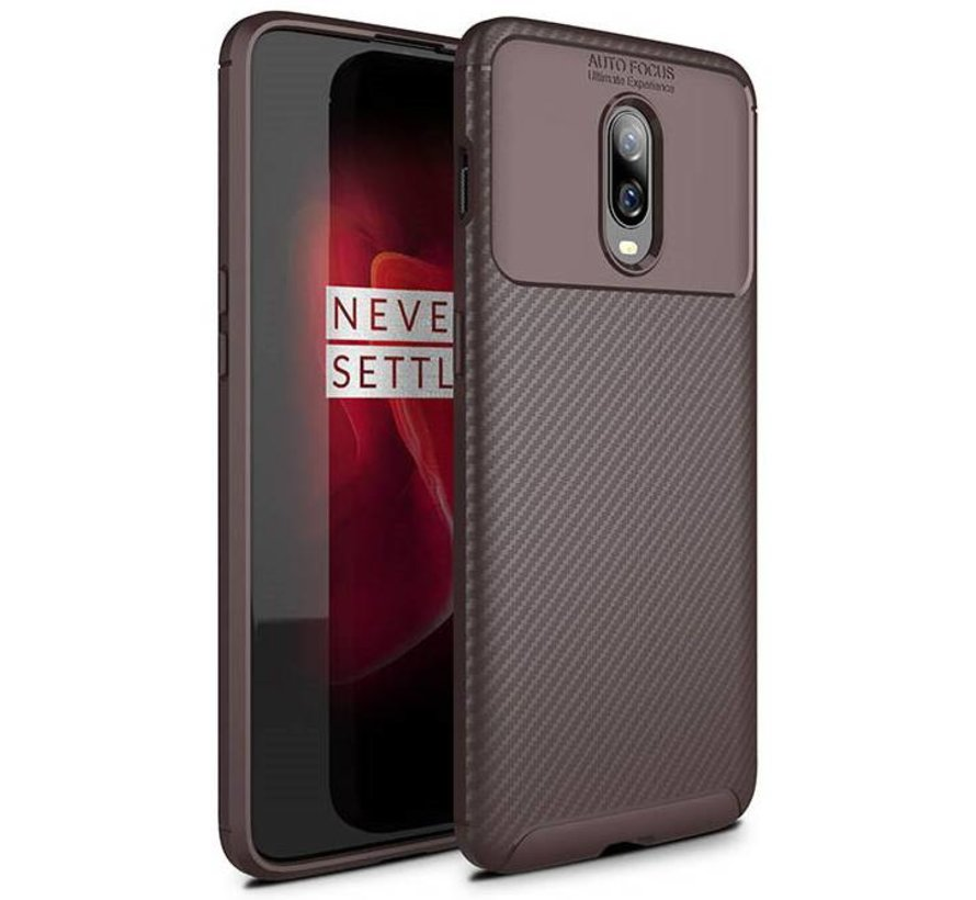OnePlus 6T Case Carbon Structure Brown