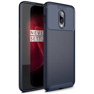 OPPRO OnePlus 6T Case Carbon Structure Blue