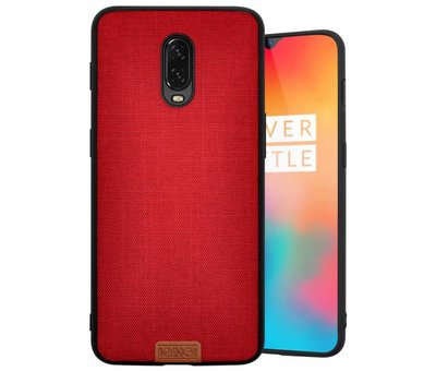 Noziroh OnePlus 6T Fabric Red Hülle