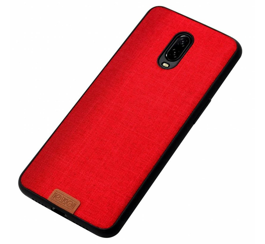 OnePlus 6T Fabric Red Hülle
