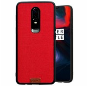 Noziroh OnePlus 6 Case Fabric Red