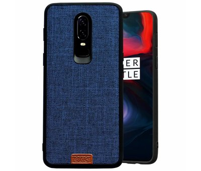 Noziroh OnePlus 6 Case Fabric Blue
