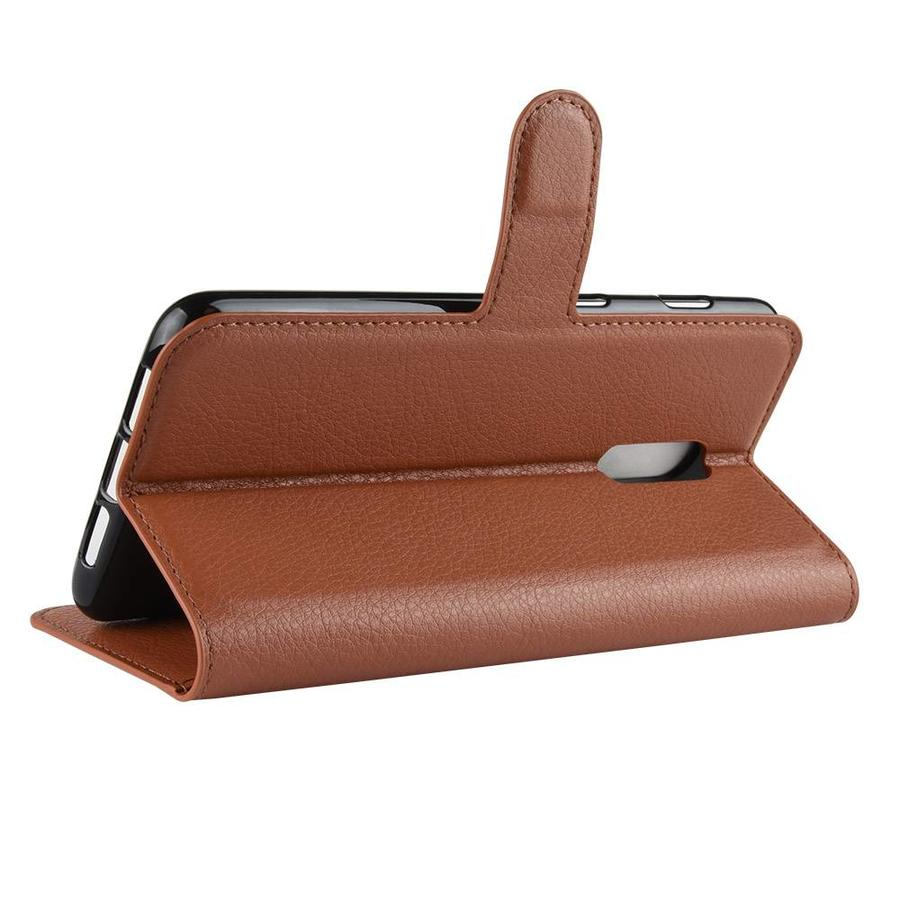 OnePlus 6T Case Wallet Flip Case Brown