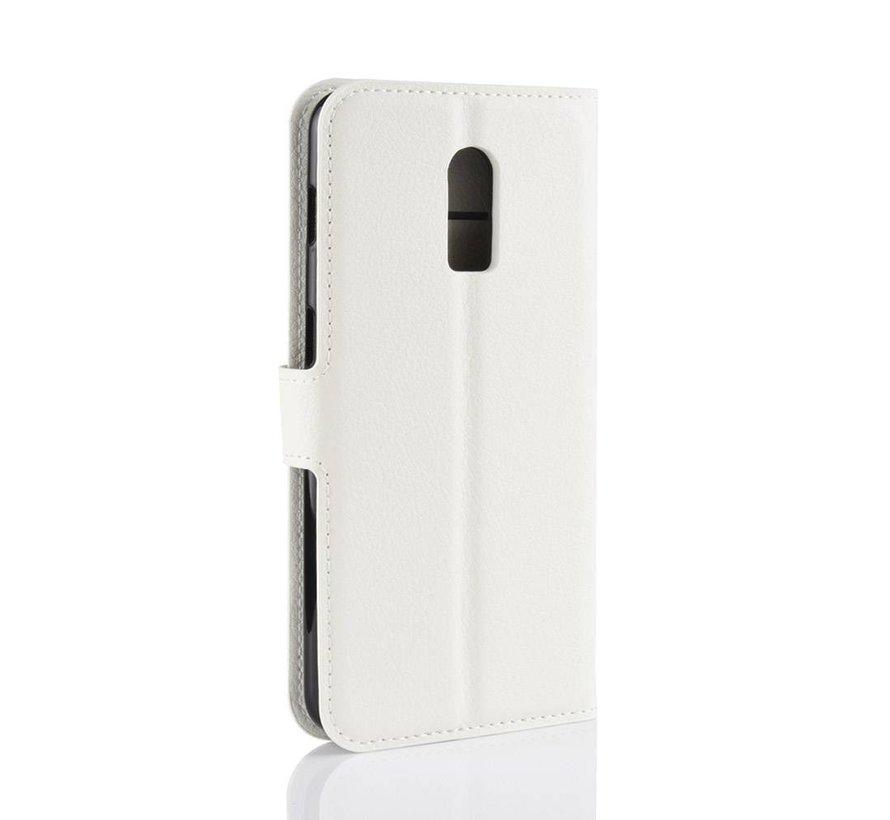 OnePlus 6T Wallet Flip Case Weiß