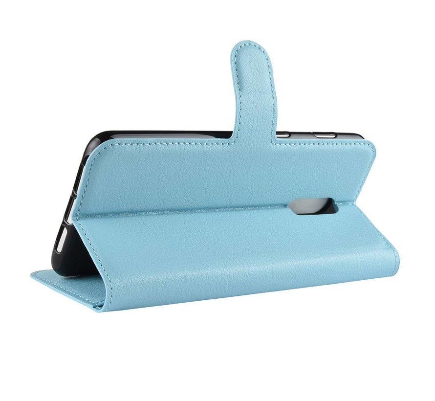 OnePlus 6T Wallet Flip Case Blaue Hülle