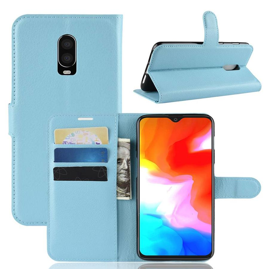 OnePlus 6T Case Wallet Flip Case Blue