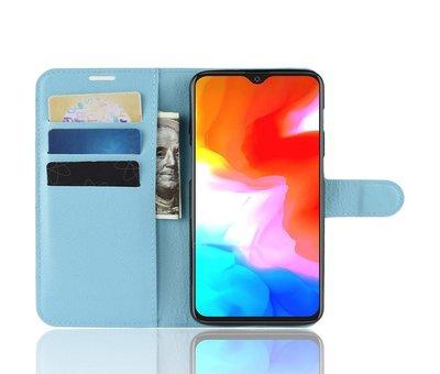 OPPRO OnePlus 6T Wallet Flip Case Blaue Hülle