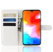 OPPRO OnePlus 6T Wallet Flip Case Weiß
