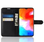 OPPRO OnePlus 6T Case Wallet Flip Case Black