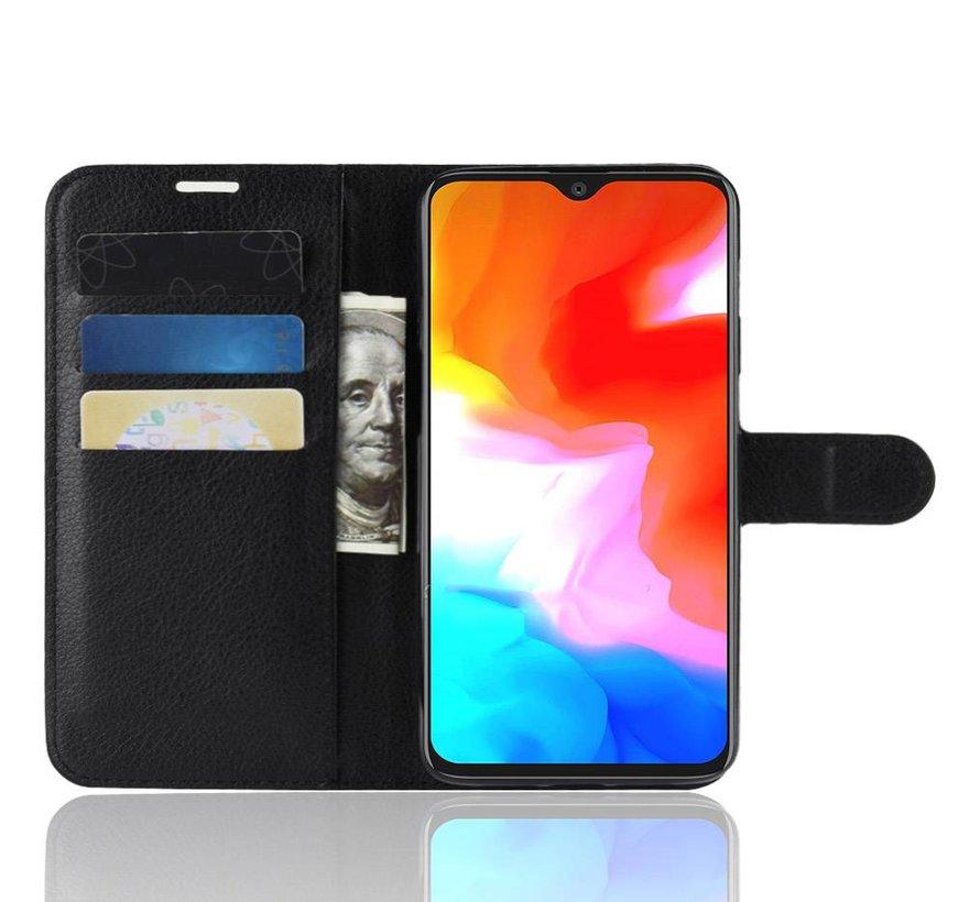 OnePlus 6T Hoesje Wallet Flip Case Zwart