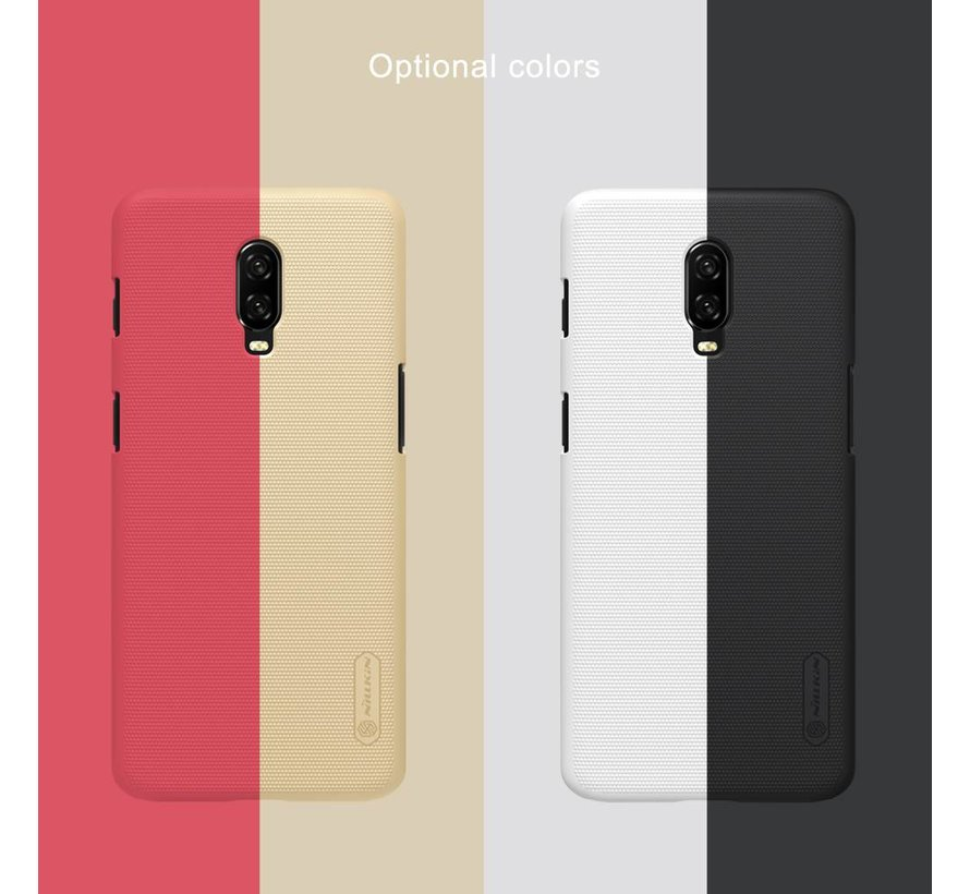 OnePlus 6T Hoesje Frosted Shield Rood