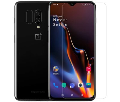 OPPRO OnePlus 6T Hoesje Brushed Carbon Grijs
