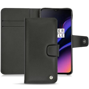 Noreve OnePlus 6T Leather Wallet Case Black