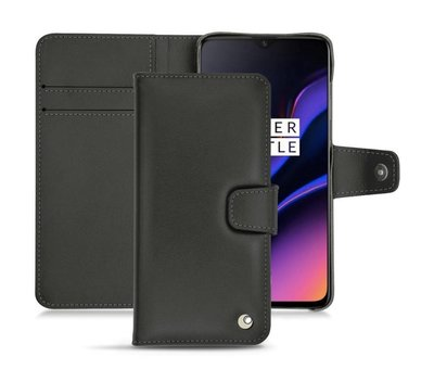 Noreve OnePlus 6T / 7 Leather Wallet Case Black