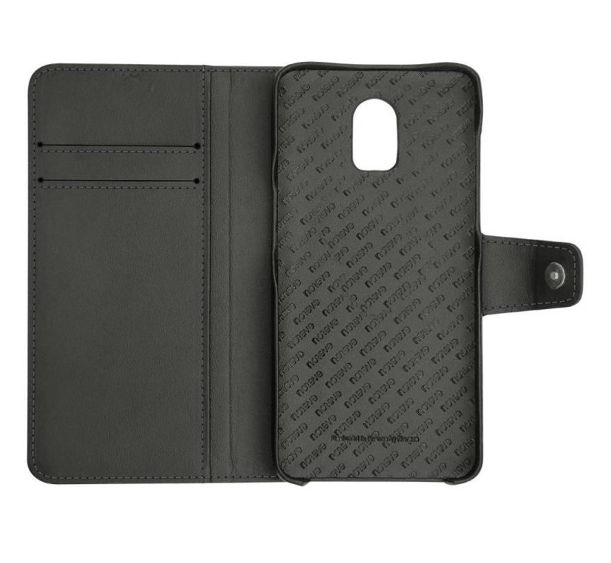 OnePlus 6T Leather Wallet Case Black