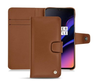 Noreve OnePlus 6T / 7 Leather Wallet Case Brown