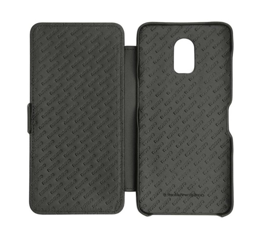OnePlus 6T / 7 Leather Flip Case Brown