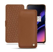 Noreve OnePlus 6T / 7 Leather Flip Case Brown