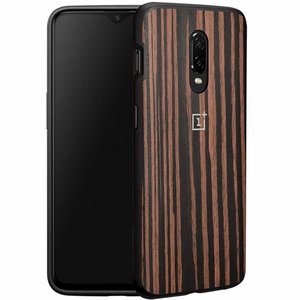 OnePlus 6T Bumper Case Ebony Wood