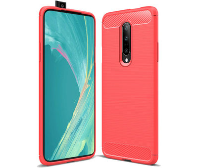 OPPRO OnePlus 7 Pro Brushed Carbon Red Case