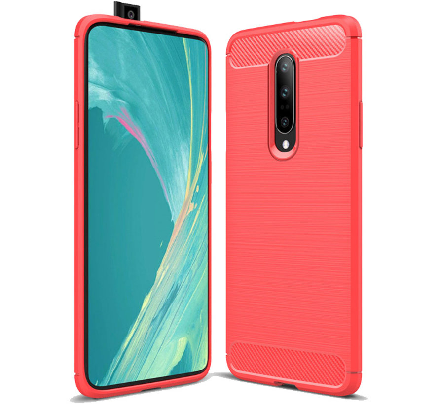 OnePlus 7 Pro Brushed Carbon Red Case