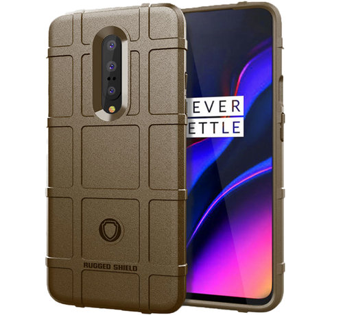 OPPRO OnePlus 7 Pro Case Pro Rugged Shield Brown