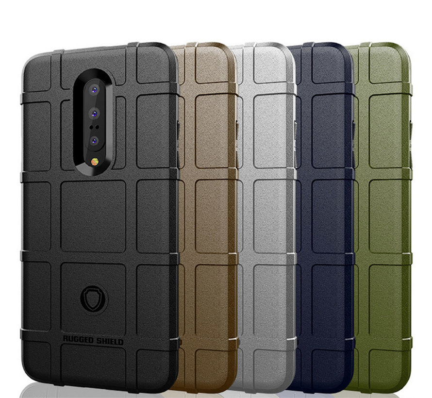 OnePlus 7 Pro Hoesje Pro Rugged Shield Blauw