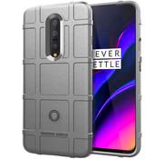 OPPRO OnePlus 7 Pro Hoesje Pro Rugged Shield Zilver