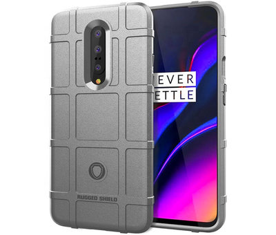 OPPRO OnePlus 7 Pro Case Pro Rugged Shield Silver