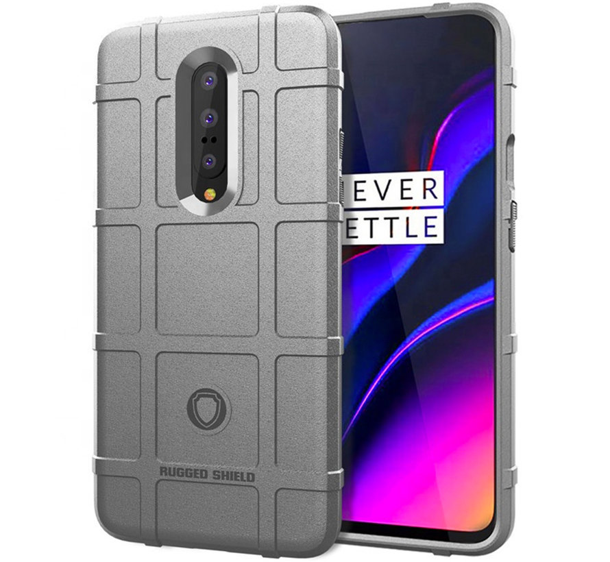 OnePlus 7 Pro Case Pro Rugged Shield Silver