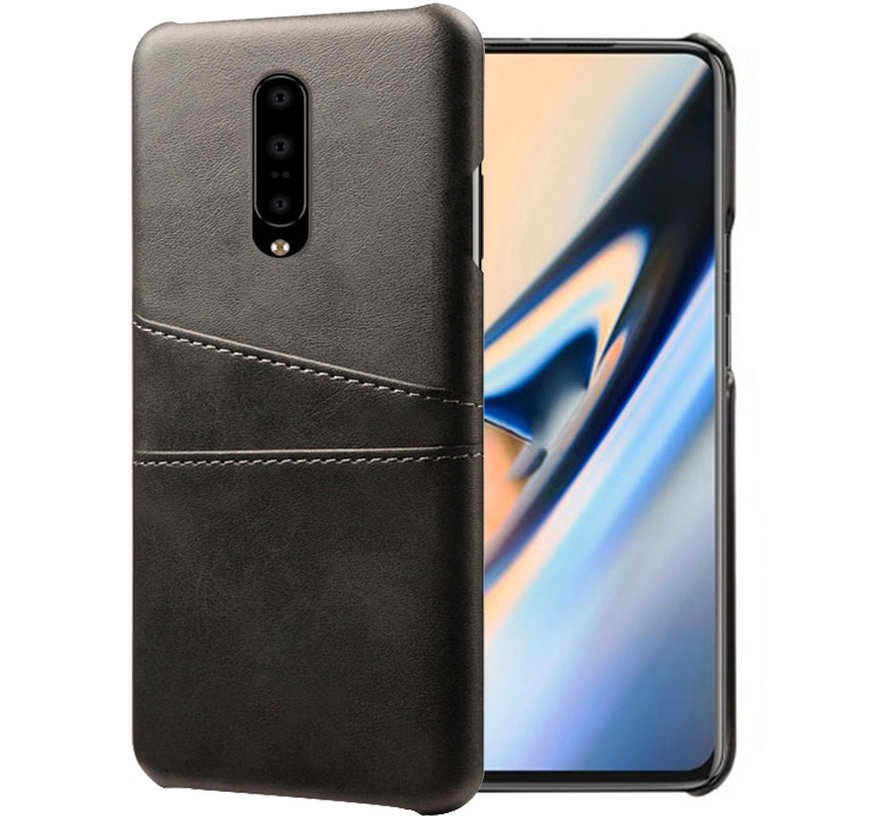 OnePlus 7 Pro Case Slim Leather Card Holder Black