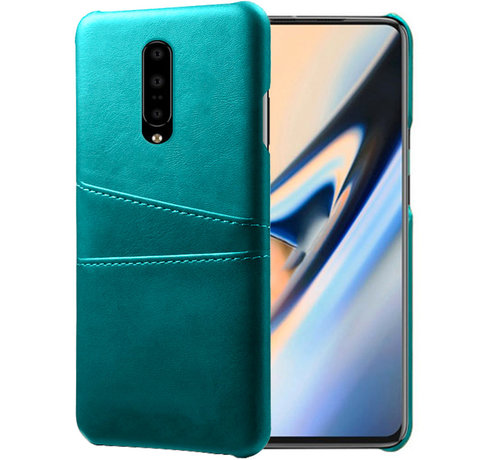 OPPRO OnePlus 7 Pro Case Slim Leather Card Holder Sea Green