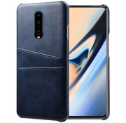 OPPRO OnePlus 7 Pro Case Slim Leather Card Holder Blue