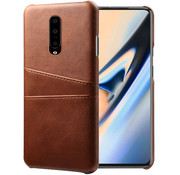 OPPRO OnePlus 7 Pro Case Slim Leather Card Holder Brown
