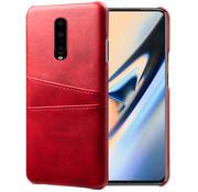 OPPRO OnePlus 7 Pro Case Slim Leder-Kartenhalter Rot