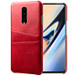 OnePlus 7 Pro Case Slim Leder-Kartenhalter Rot