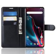 OPPRO OnePlus 7 Pro Wallet Flip Case Schwarz