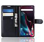 OnePlus 7 Pro Wallet Flip Case Schwarz
