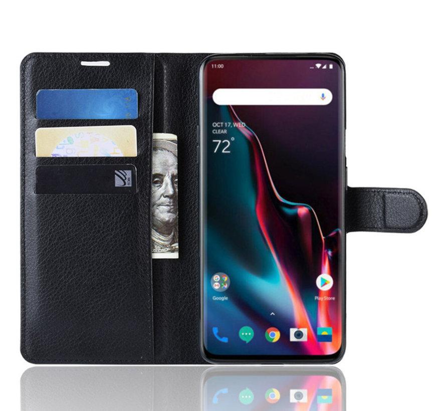 OnePlus 7 Pro Hoesje Wallet Flip Case Zwart